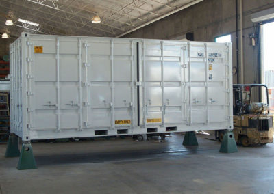 Closed view of Openside Container.