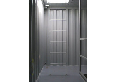 Ladders inside Container