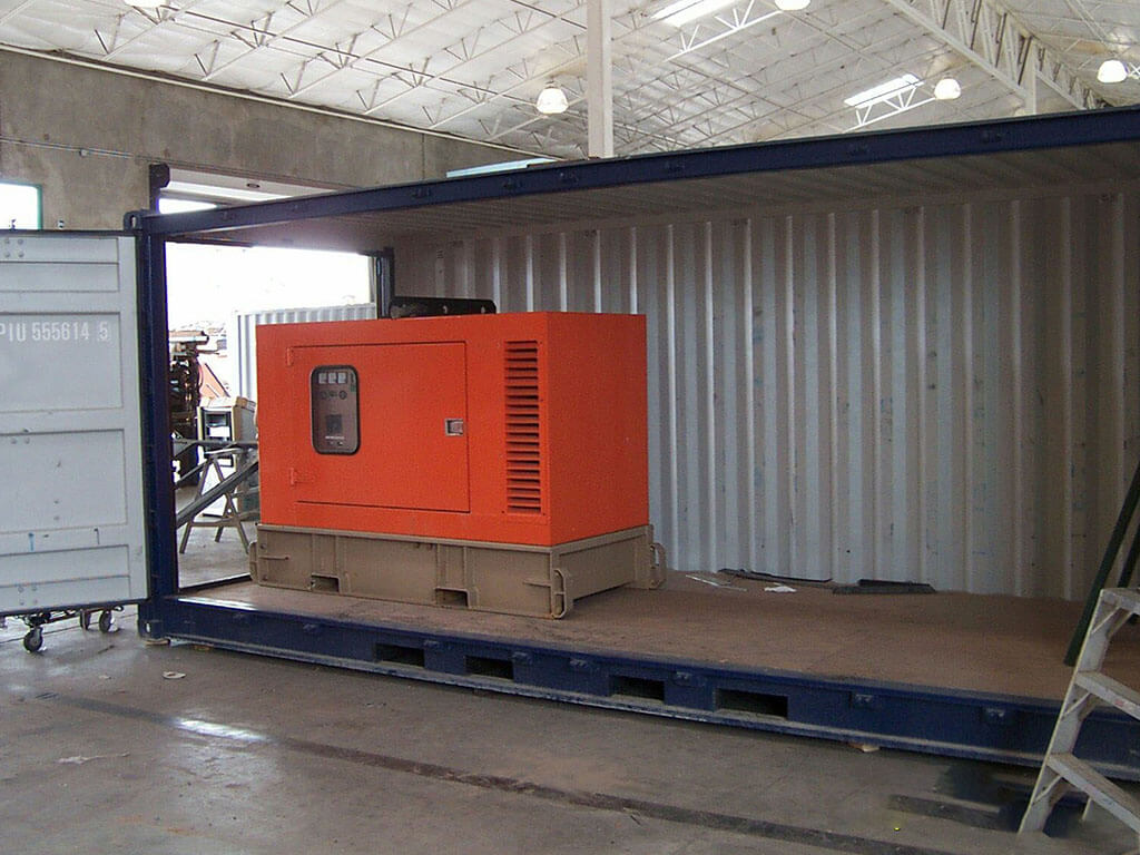 Types Of Custom Modified Container As Generator Enclosure