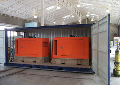 Two generators in 20' container