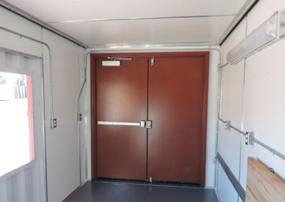 Inside View of Double Personnel Door