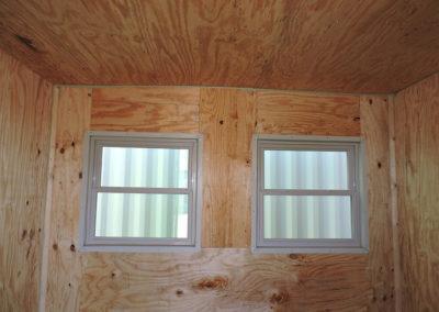Single Windows with Plywood Interior