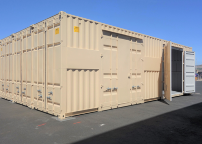 40′ HIGH CUBE WITH WINDOWS, PERSONNEL DOORS & OUTDOOR WORK BENCH